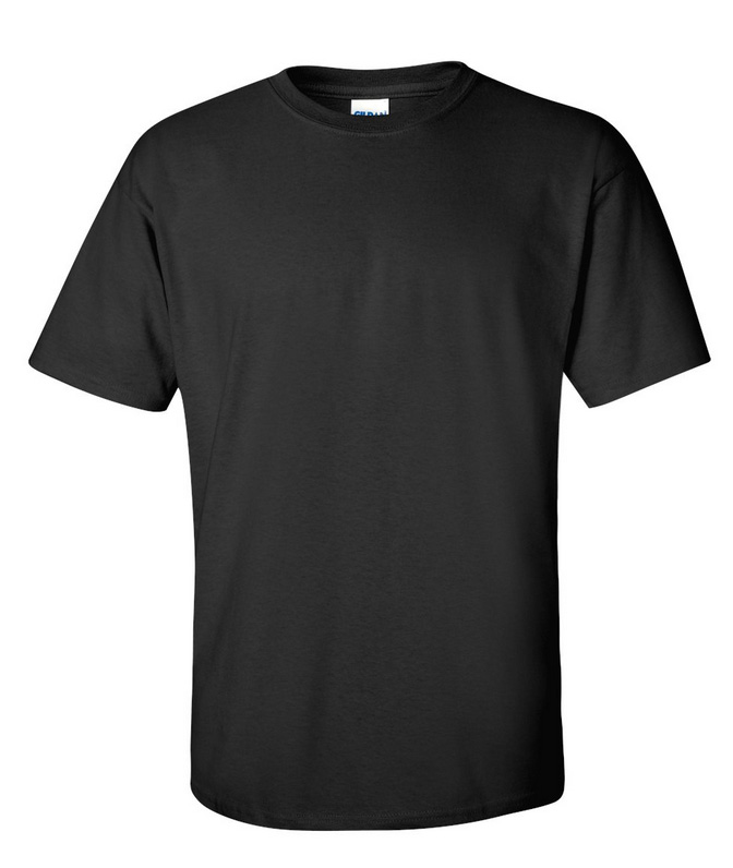 Gildan 185g M Black Cotton T Shirt